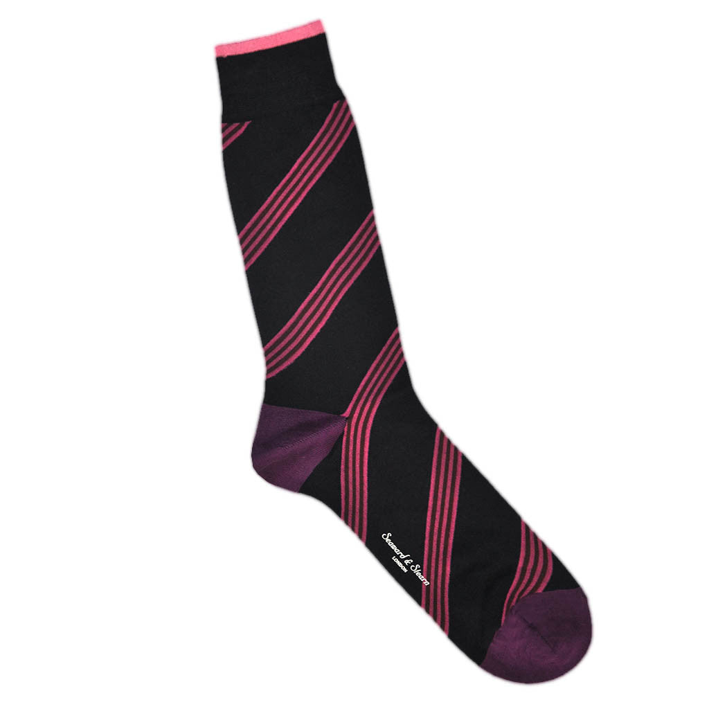Fine Cotton Stripes and Blocks Socks