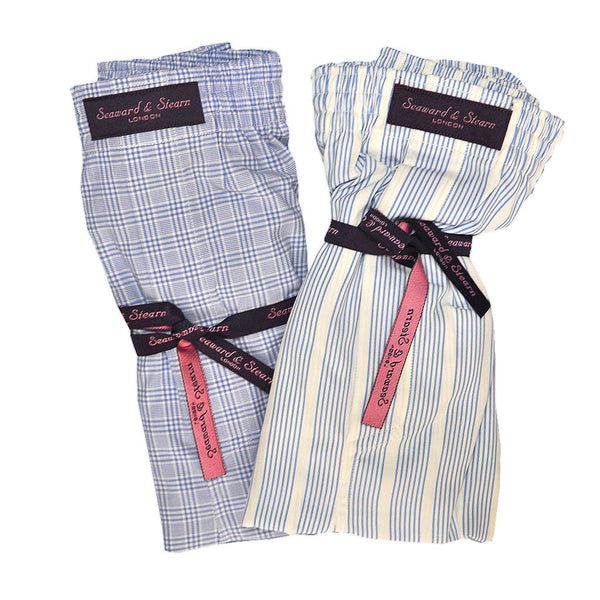 Plaid and Stripes Cotton Boxer Short Bundle