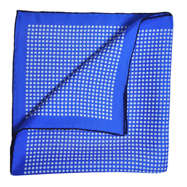 English Silk Classic Dots Pocket Square