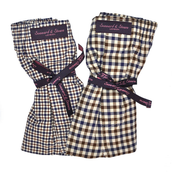Plaid and Gingham Cotton Boxer Short Bundle