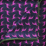 English Silk Dapper Dog Pocket Square in Pink & Navy