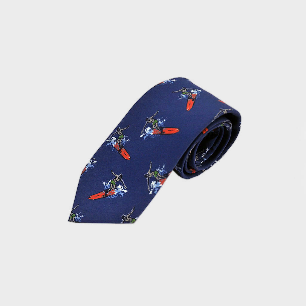 Surf's Up! Silk Tie in Blue