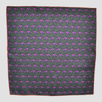 English Silk Dapper Dog Pocket Square in Muted Pink & Dark Olive