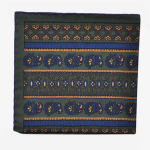 English Madder Floral Columns Pocket Square