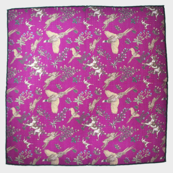 Autumn Scene Reversible Panama Silk Pocket Square