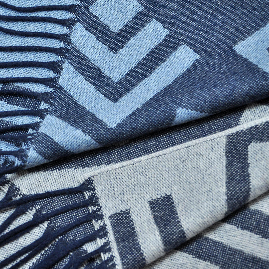 Big Geo's Wool Scarf in Navy & Blues
