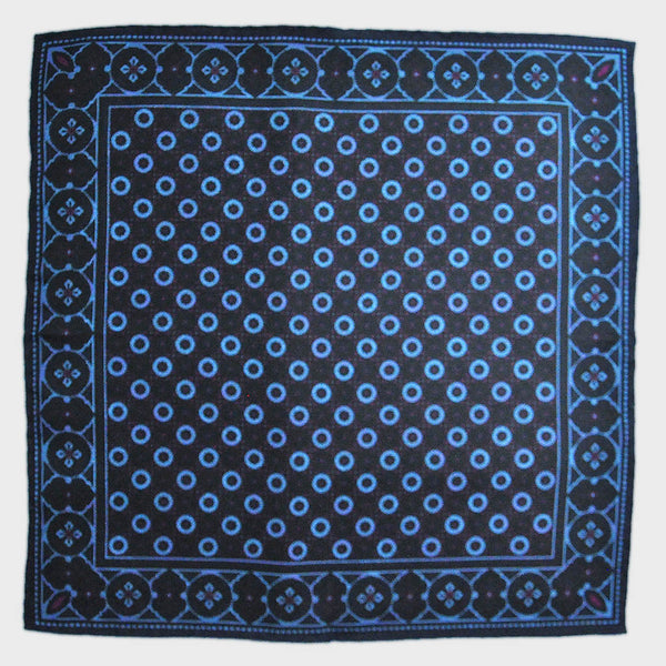Mosaic Repeat Reversible Panama Silk Pocket Square