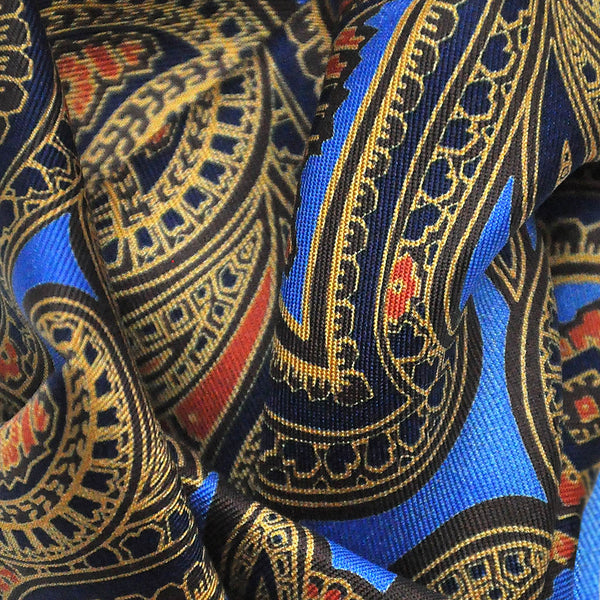 English Madder Paisley Pocket Square