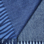 Four Panels of Colour Cashmere Scarf in Blues