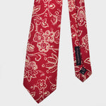 Floral Silk Tie in Persian Red