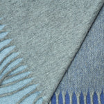 Four Panels of Colour Cashmere Scarf in Greys & Blues