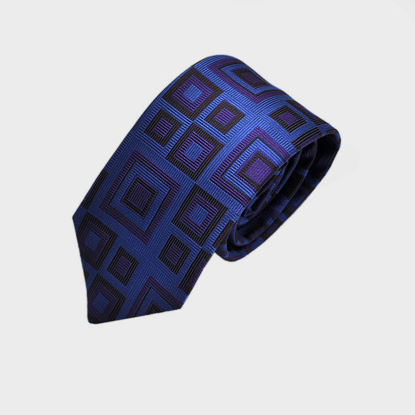 English Woven Silk Dynamic Squares Tie