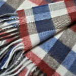 Classic Plaid Wool Scarf in Primary Pastel Colours