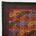 Teardrops & Dots Reversible Panama Silk Pocket Square in Claret & Green
