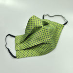 Neat Repeat Silk Face Cover in Lime