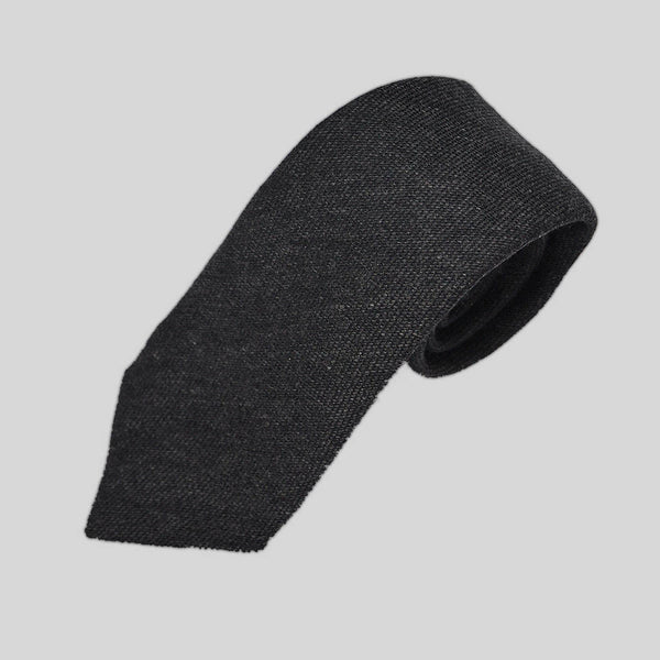 Winter Grey Wool Tie