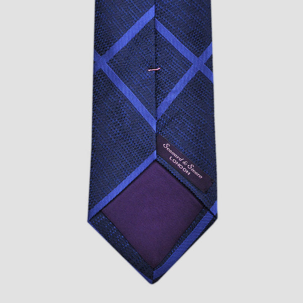 English Tussah Weave Cross Hatch Silk Tie