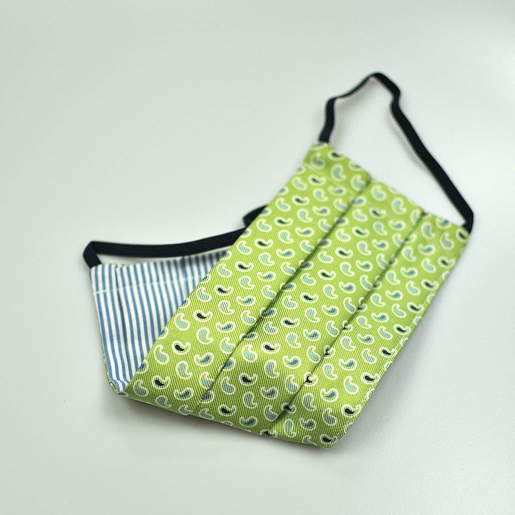 Teardrops Silk Face Cover in Lime