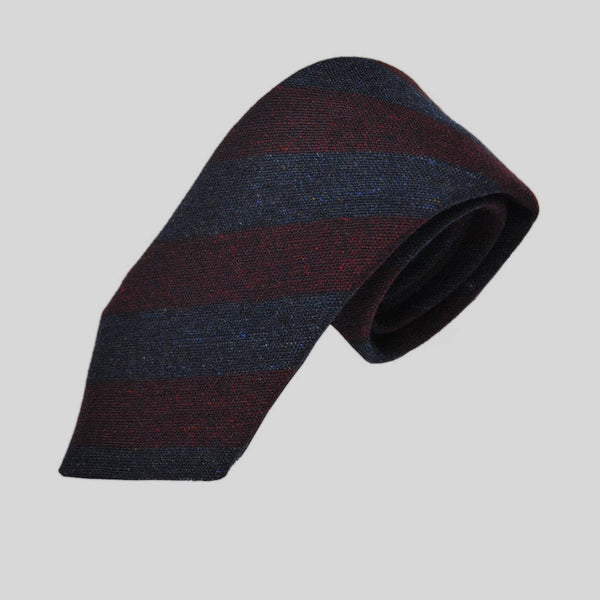 Warm Bold Stripes Wool Tie
