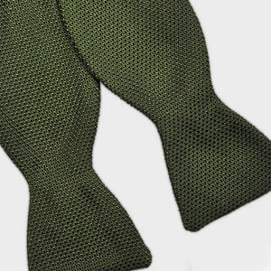 Silk Grenadine Bow Tie in Olive