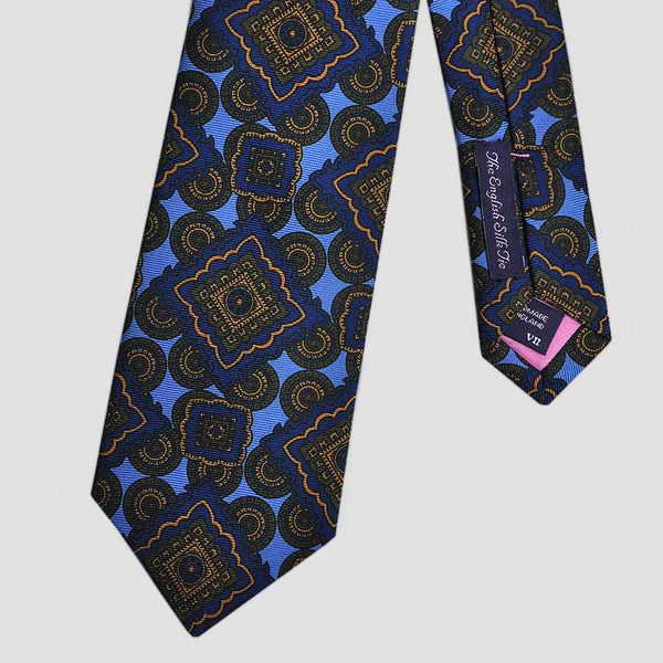 English Madder Groovy Repeats Silk Tie