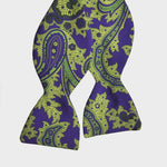 English Silk Paisley Printed Bow