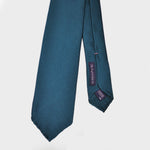 Hand Rolled Woven Silk Tie in Teal