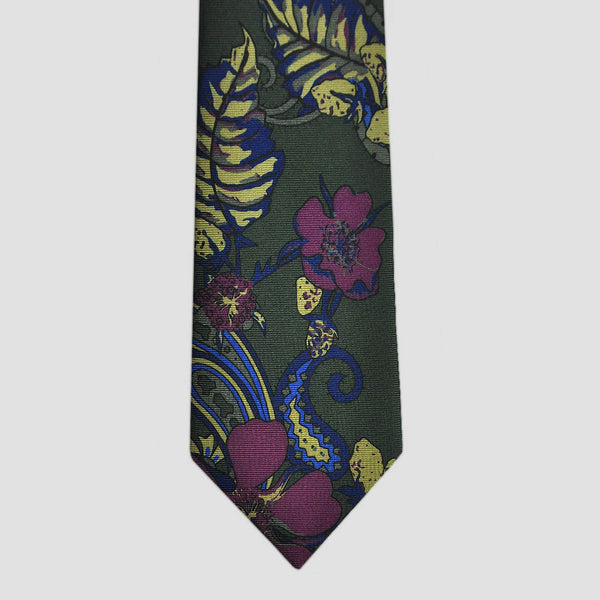 English Madder Flora Silk Tie