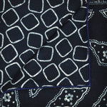 Navy Florets & Geo's Reversible Panama Silk Pocket Square