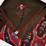 Paisley Bandana in Brown & Red