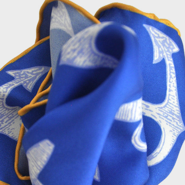 English Silk Anchor Swing Pocket Square