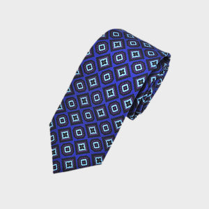 Repeat of Funky Florets Silk Tie in Blue