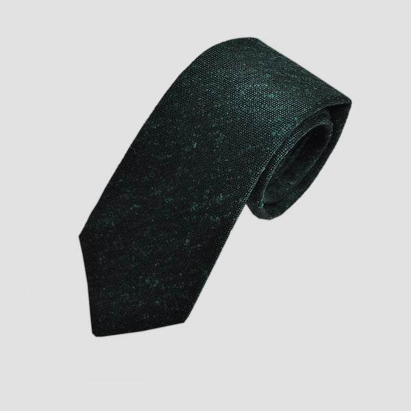 Bottle Green Slub Wool Tie