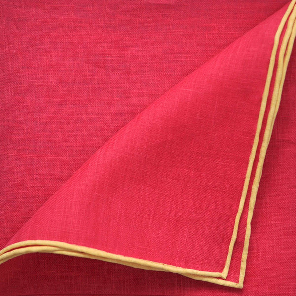Summer Colour Linen Pocket Square