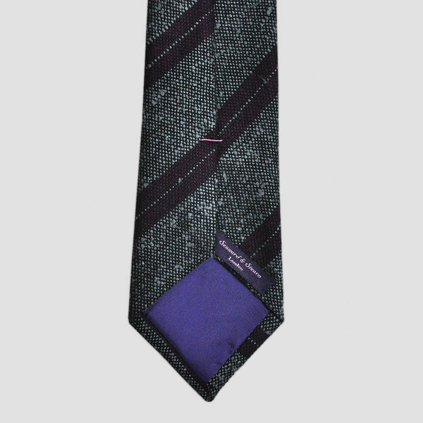 Claret Stripes Slub Wool Tie