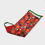 Xmas Cheer Silk Face Cover in Red
