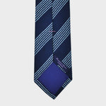 Pin Stripe Block Tussah Silk Tie