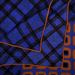 Funky Geo's and Plaid Wool Silk Pocket Square