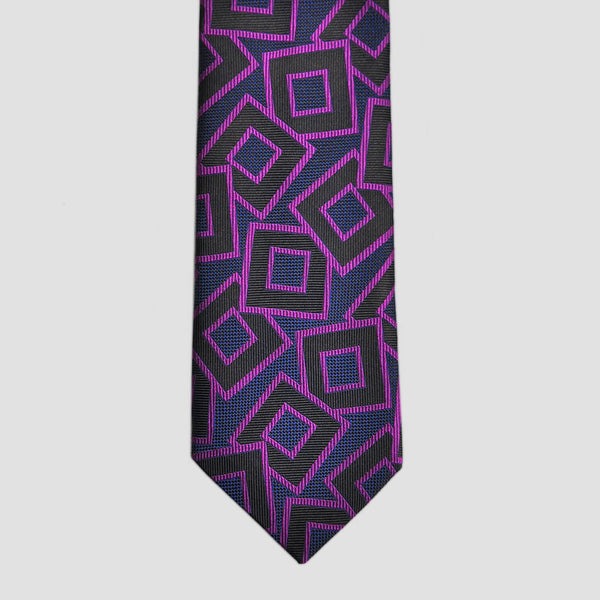 English Woven Silk Funky Squares Tie
