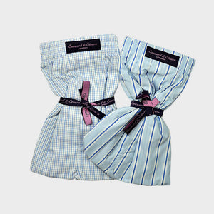 Double Cotton Boxer Short Bundle Checks & Stripes
