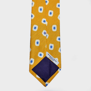 Spots & Dots Silk & Linen Tie in Tuscan Gold