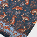 Hare Cotton & Cashmere Pocket Square in Blues