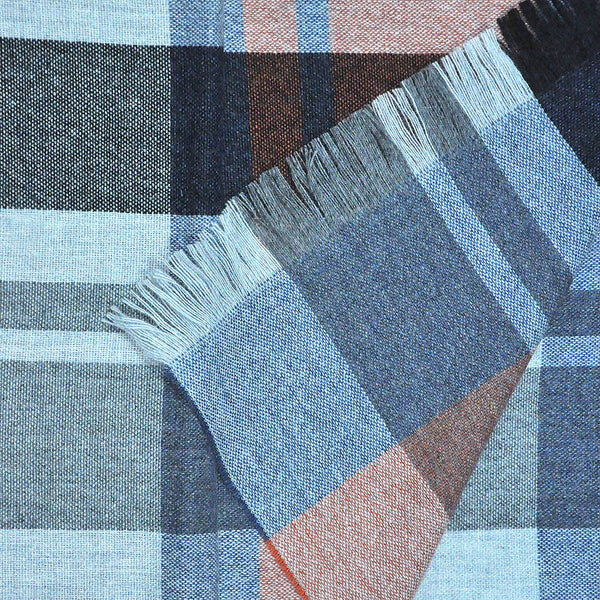 Panels & Stripes Wool & Angora Scarf