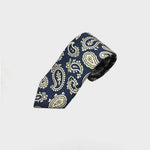 The Funky Buteh Silk Tie in Blue & White