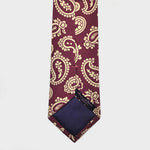The Funky Buteh Silk Tie in Claret & White