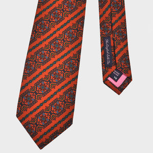Groovy Aztec Silk Tie in Red