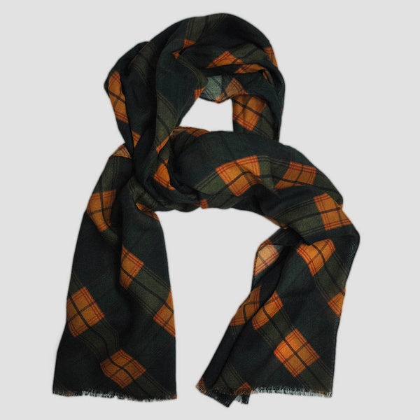 Wool Silk Spring Plaid Scarf