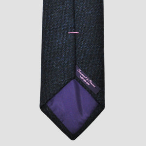 Autumnal Stormy Blue Wool Tie