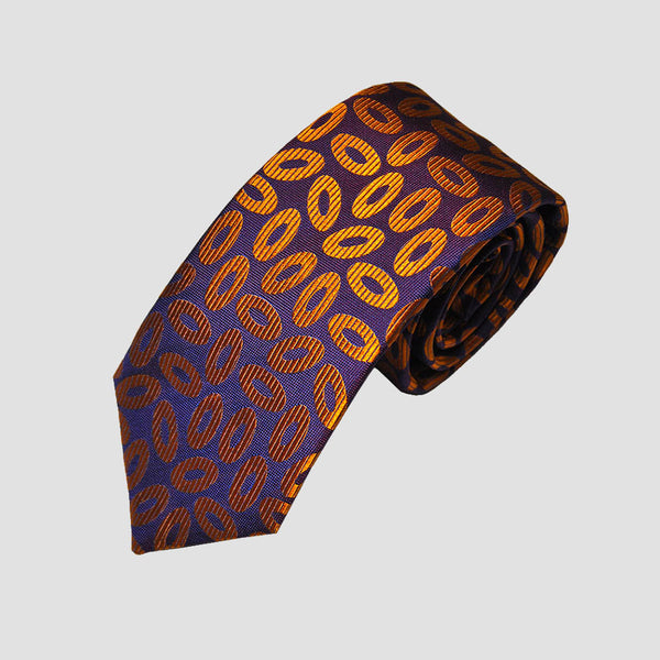 English Woven Silk Cascading Rings Tie