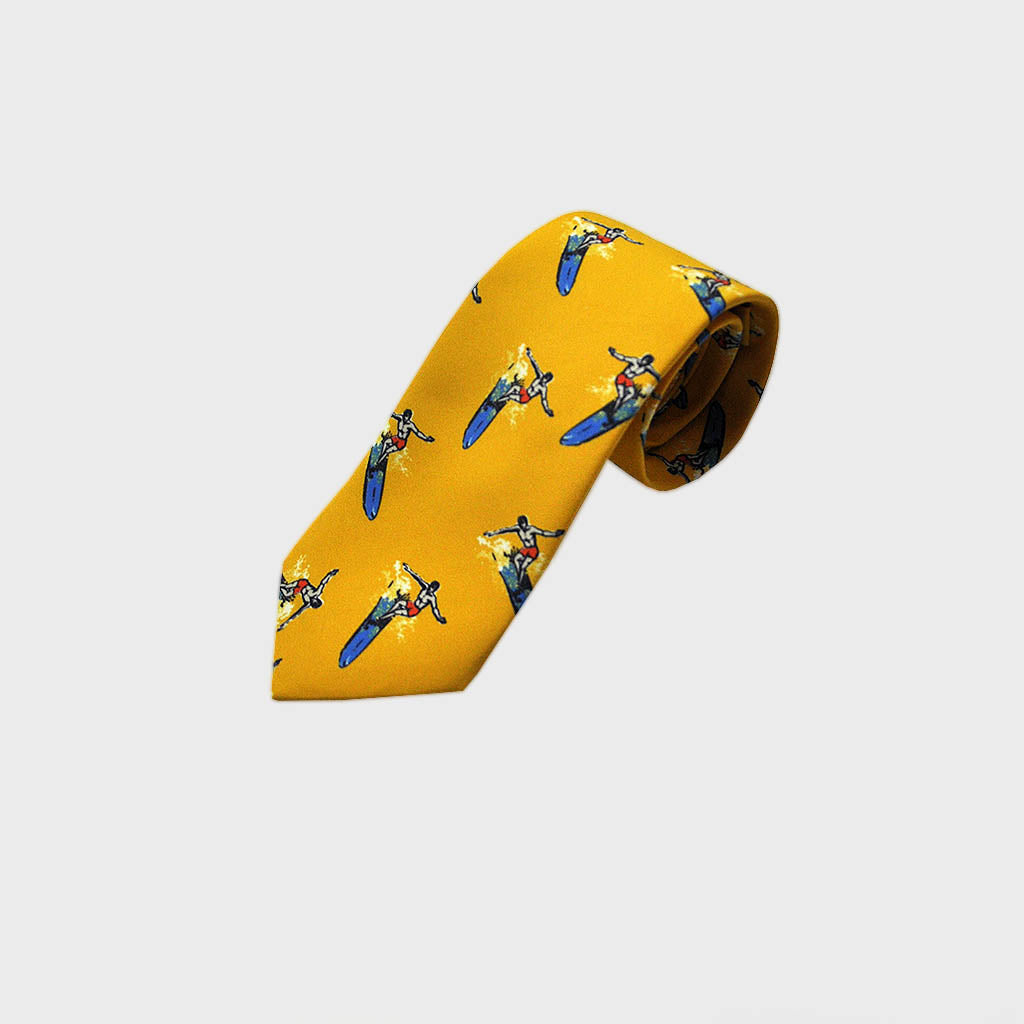 Surf's Up! Silk Tie in Golden Sand